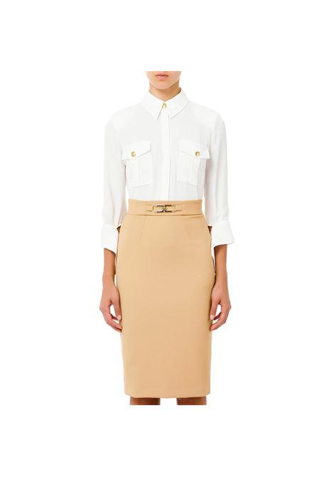 Camicia con bottoni light gold ELISABETTA FRANCHI | Camicie | CA33516E2360