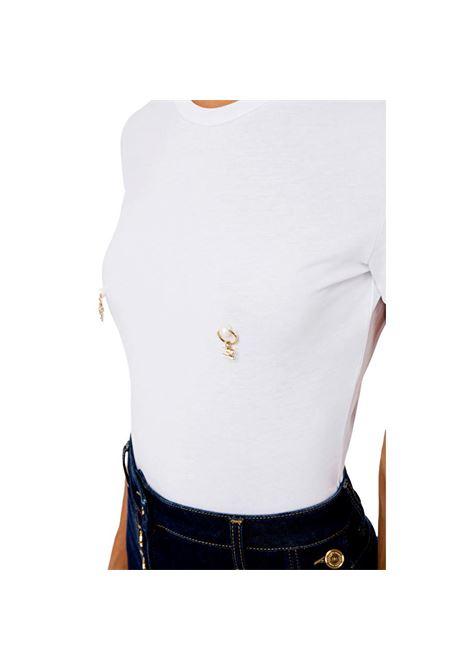 T-shirt con applicazione piercing ELISABETTA FRANCHI | Maglie | MA20616E2270
