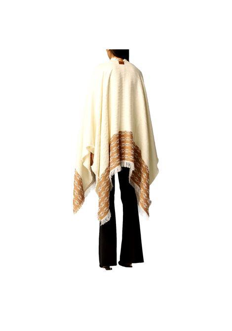 Mantella jaquard morsetto logo ELISABETTA FRANCHI | Mantelle | MT01F16E2U69