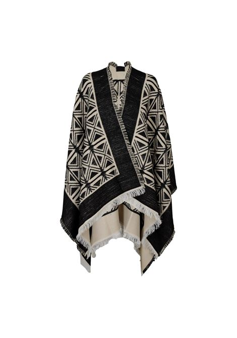 Mantella jaquard disegno kilim ELISABETTA FRANCHI | Mantelle | MT03F16E2685