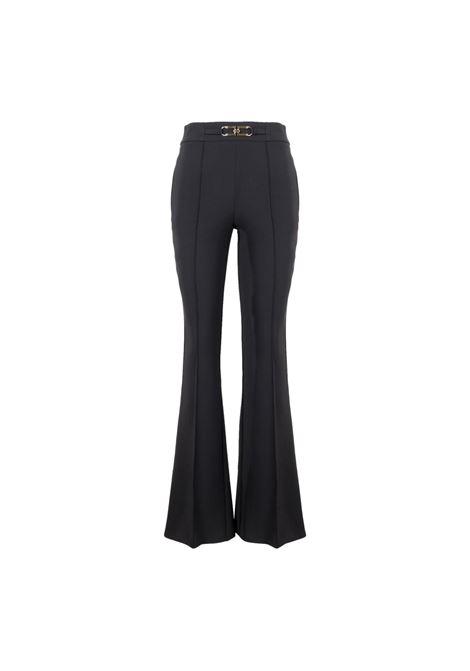 Pantalone a zampa con logo Elisabetta Franchi ELISABETTA FRANCHI | Pantaloni | PA38716E2110