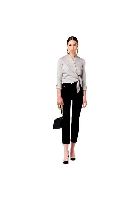 Mini flare jeans by Elisabetta Franchi ELISABETTA FRANCHI | Pantaloni | PJ12D16E2110