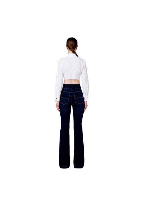 Jeans con abbottonatura alta light gold ELISABETTA FRANCHI | Pantaloni | PJ23S16E2139