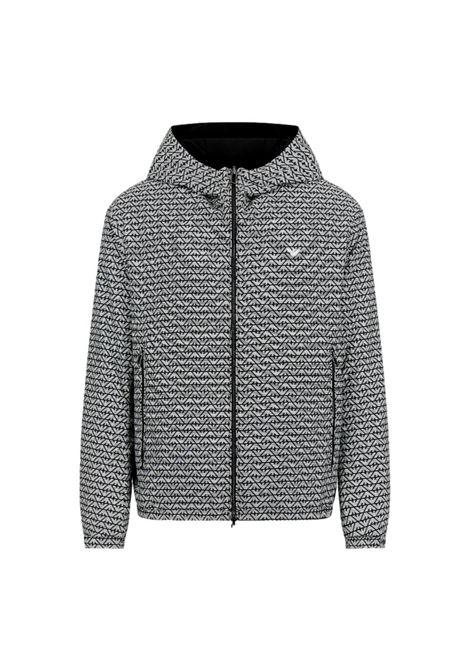Reversible blouson with all-over eagle print nylon hood EMPORIO ARMANI |  | 6K1B70 1NTPZF014