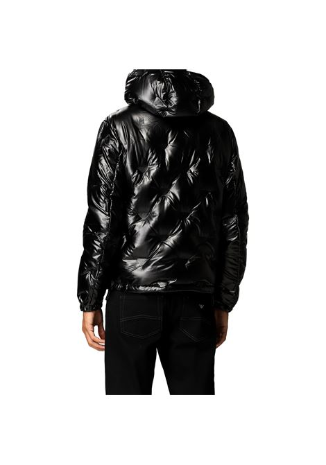 Down jacket with hood in leather-effect coated nylon EMPORIO ARMANI |  | 6K1B93 1NYWZ0999