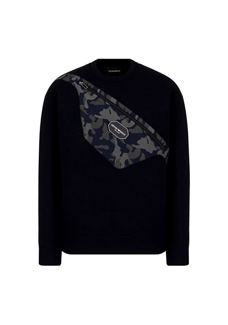 Sweatshirt with trompe l'oeil pouch patch EMPORIO ARMANI |  | 6K1M90 1JUWZ0920