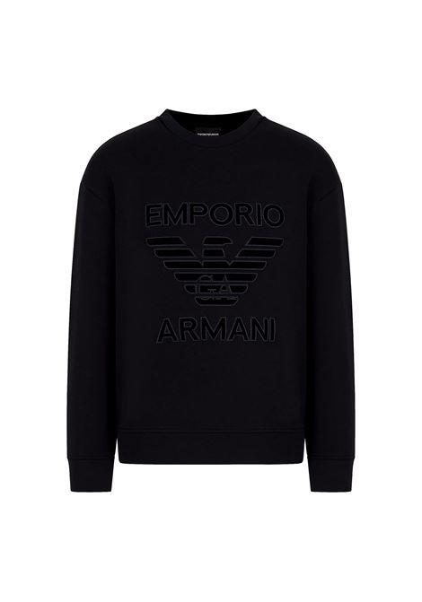 Double jersey sweatshirt with maxi logo embroidery EMPORIO ARMANI |  | 6K1M97 1JHSZ0999