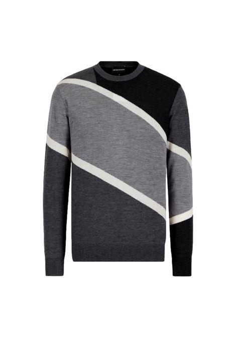 Virgin wool sweater with color block inlay EMPORIO ARMANI |  | 6K1MTD 1MXPZF626