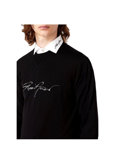Virgin wool sweater with signature logo embroidery EMPORIO ARMANI |  | 6K1MTE 1MD1Z0002