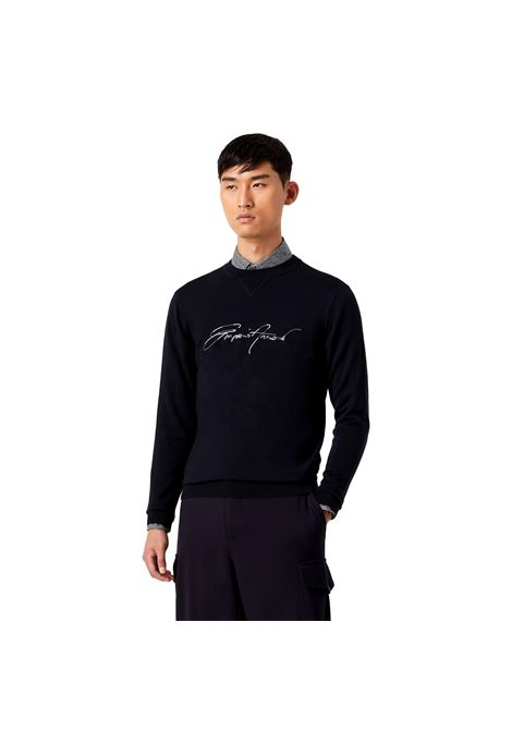 Virgin wool sweater with signature logo embroidery EMPORIO ARMANI |  | 6K1MTE 1MD1Z0920