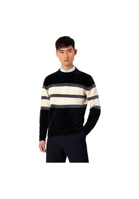 Chenille sweater with color block detail EMPORIO ARMANI |  | 6K1MU2 1MVSZ0920