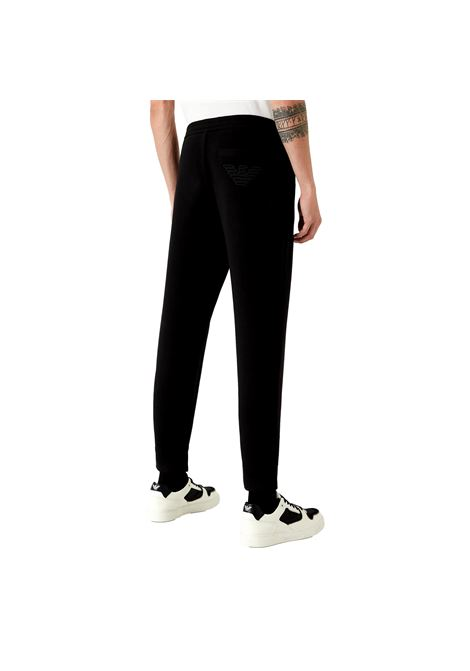 Double jersey jogger trousers with embroidered eagle EMPORIO ARMANI |  | 6K1PA0 1JHSZ0999