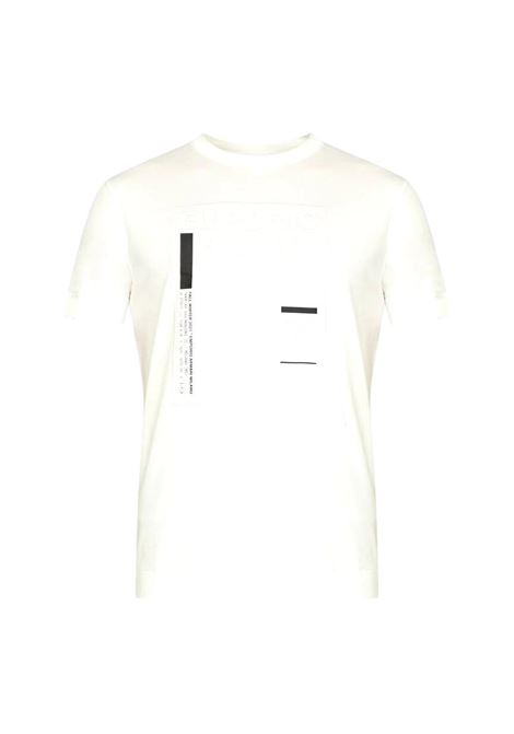 Tencel blend jersey T-shirt with logo square print EMPORIO ARMANI |  | 6K1T94 1JUVZ0101