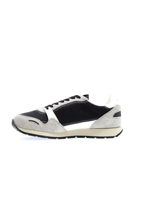 Suede sneakers with contrasting inserts and maxi eagle EMPORIO ARMANI |  | X4X537 XM678Q444