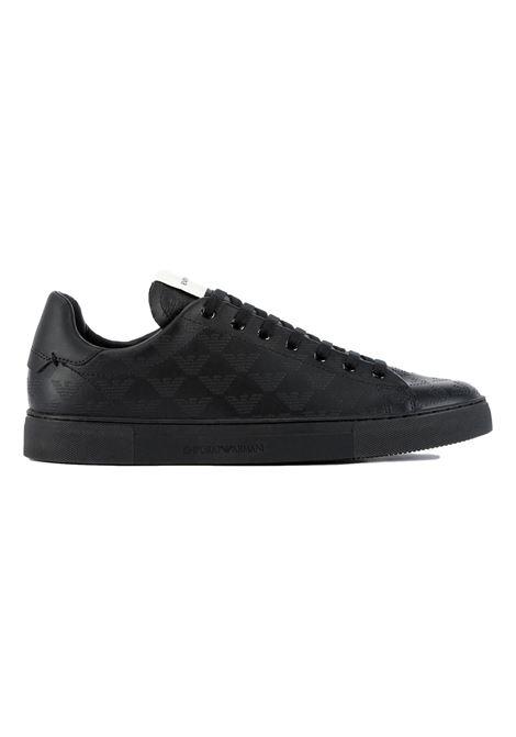 All-over soft monogram leather sneakers EMPORIO ARMANI |  | X4X554 XM995K001