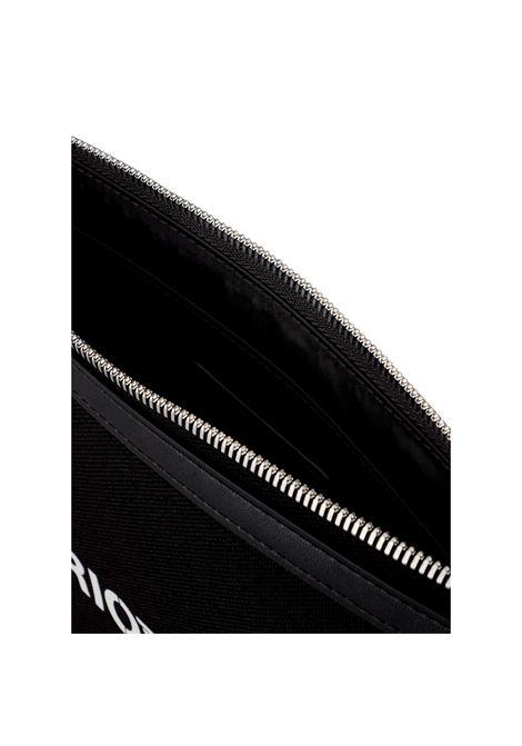 Pouch in nylon cordura con logo bold EMPORIO ARMANI | Bustina | Y4R342 Y054E81072