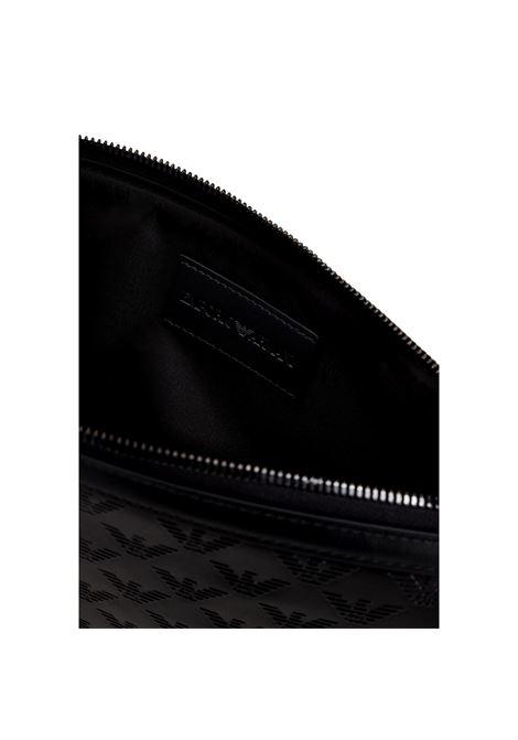 Pochette piatta in nylon con inserto eagle monogram EMPORIO ARMANI | Bustina | Y4R342 Y072J81073