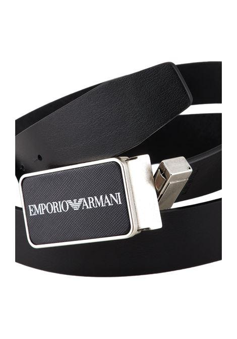 Reversible belt in saffiano leather with plaque EMPORIO ARMANI |  | Y4S473 Y082G88001