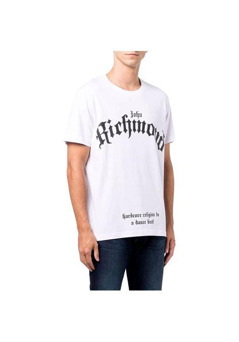 T-shirt with mcenroe print RICHMOND JOHN |  | RMA21312TS9FWHITE