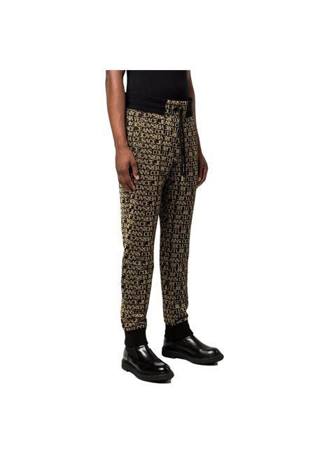 Pantaloni sportivi con stampa oro laminata VERSACE JEANS COUTURE | Pantaloni | 71GAA3B9 F0005G89