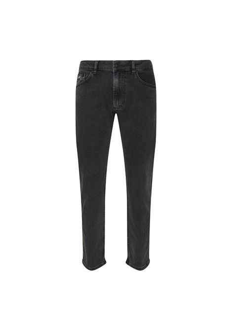 Jeans a sigaretta con logo a rilievo nero VERSACE JEANS COUTURE | Jeans | 71GAB5D4 CDW07909