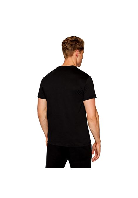 T-shirt con logo oro a rilievo VERSACE JEANS COUTURE | T-shirt | 71GAHT10 CJ00TG89
