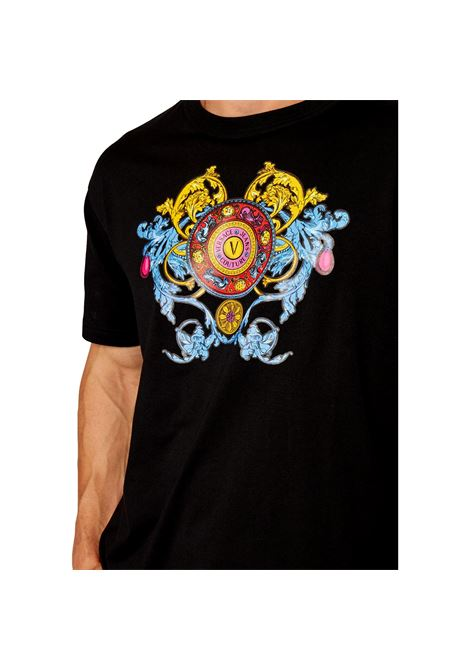 T-shirt with multicolored print VERSACE JEANS COUTURE |  | 71GAHT17 CJ00O899