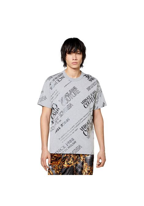 T-SHIRT WITH LABEL PRINT VERSACE JEANS COUTURE |  | 71GAHT28 CJ00T802