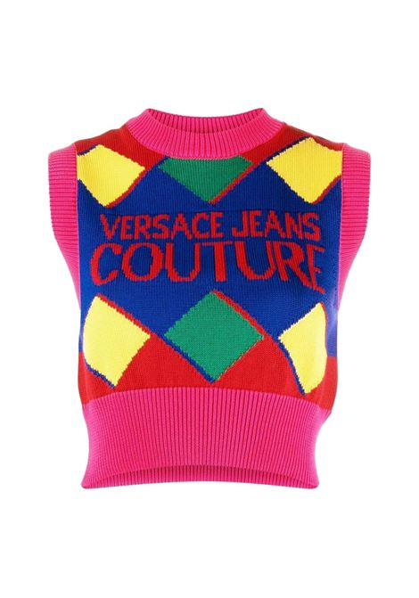 Crop top vest with multicolored inlay VERSACE JEANS COUTURE |  | 71HAF829 CM00MOB5