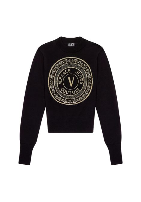 SWEATER WITH EMBROIDERED V-EMBLEM MOTIF VERSACE JEANS COUTURE |  | 71HAF842 CM01MK42