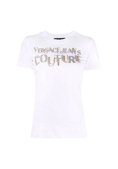 T-shirt with glitter logo print VERSACE JEANS COUTURE |  | 71HAHT02 CJ00TG03