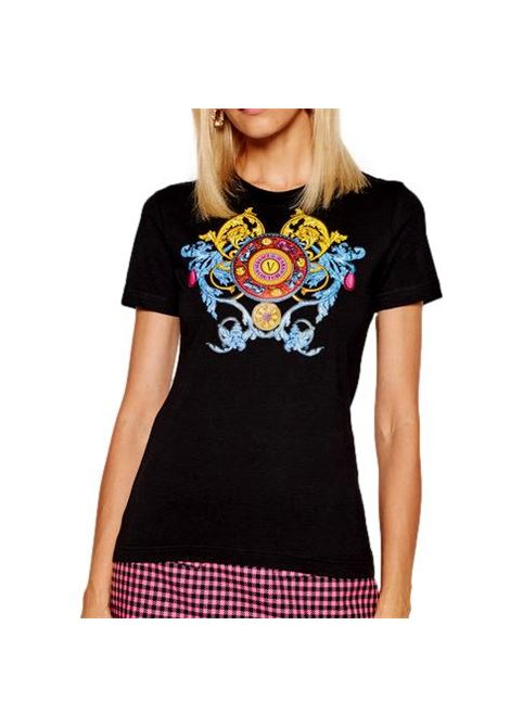 T-SHIRT WITH MULTICOLOR PRINT VERSACE JEANS COUTURE |  | 71HAHT17 CJ00O899