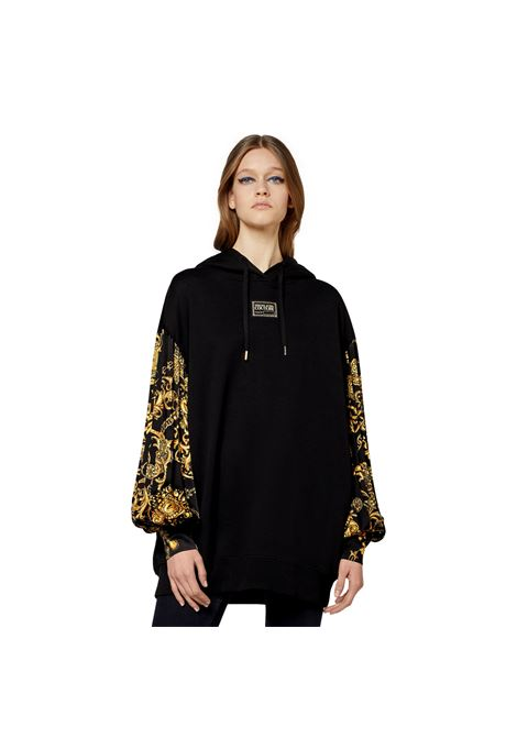 HOODED SWEATSHIRT WITH BAROQUE REGALIA PRINT VERSACE JEANS COUTURE |  | 71HAI315 NS006G89