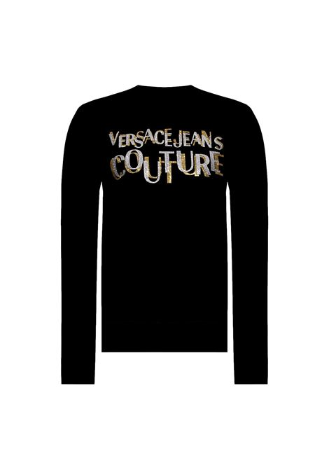 SWEATSHIRT WITH GOLD GLITTER LOGO  VERSACE JEANS COUTURE |  | 71HAIT02 CF00TG89