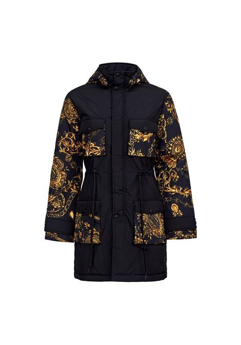 BLACK AND GOLD PARKA JACKET VERSACE JEANS COUTURE |  | 71HAS466 CQS00G89