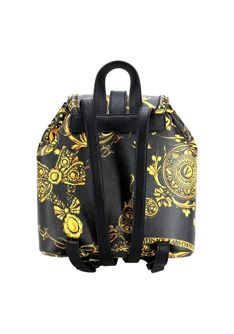 Backpack with Couture I buckle in barocco motive eco leather VERSACE JEANS COUTURE |  | 71VA4BF8 71880G89
