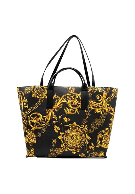 Black shopping bag with Regalia Baroque print VERSACE JEANS COUTURE |  | 71VA4BF9 71880G89