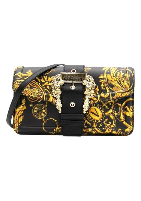 Couture I baguette bag in black eco leather with Regalia Baroque print VERSACE JEANS COUTURE |  | 71VA4BFA 71880G89