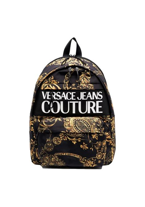 Backpack with baroque print VERSACE JEANS COUTURE      71YA4B90 ZS109G89