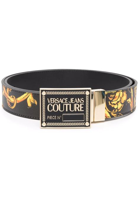 Belt with black reversible print VERSACE JEANS COUTURE      71YA6F01 ZP056G89