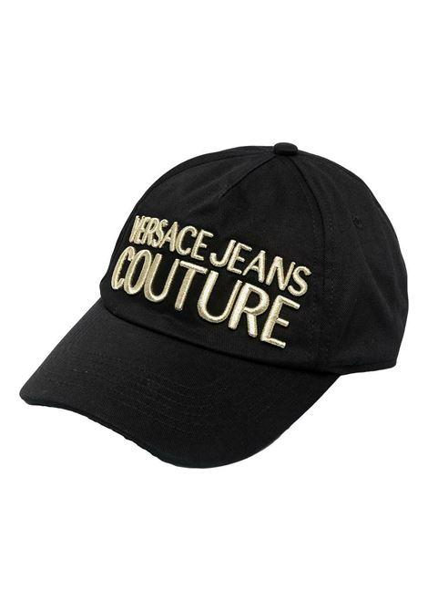 Cappello con logo ricamato oro VERSACE JEANS COUTURE | Cappelli | 71YAZK10 ZG010G89