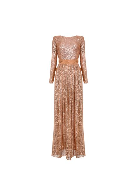 Red Carpet fully sequinned dress with bow ELISABETTA FRANCHI |  | AB99911E2614