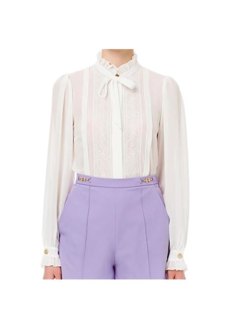 Georgette shirt and ruffles ELISABETTA FRANCHI |  | CA31211E2360