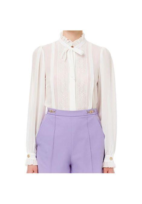 Camicia in georgette e ruches ELISABETTA FRANCHI | Camicia | CA31211E2360
