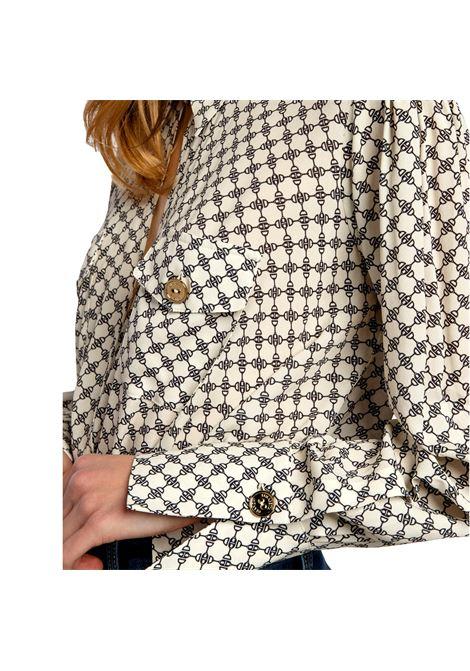 Camicia a body Elisabetta Franchi stampa morsetto ELISABETTA FRANCHI | Camicia | CB01411E2E84