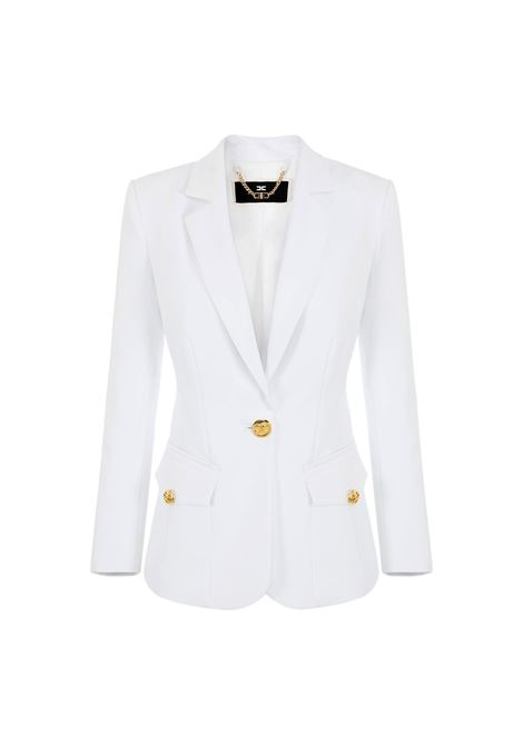 V-neck jacket with light gold button ELISABETTA FRANCHI |  | GI96611E2360