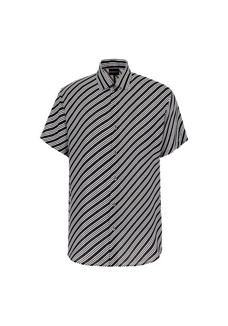 Short-sleeved shirt in optical print modal EMPORIO ARMANI |  | 3K1CB9 1NYMZF011