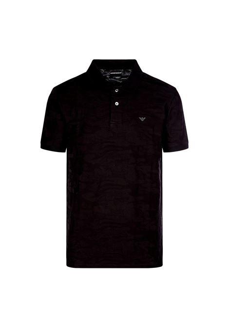 Polo shirt in camouflage jacquard jersey EMPORIO ARMANI |  | 3K1FA9 1JVPZF036