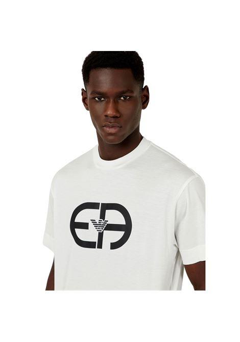 T-Shirt in jersey misto Tencel maxi logo R-EAcreate EMPORIO ARMANI | T-shirt | 3K1TAD 1JUVZ0101