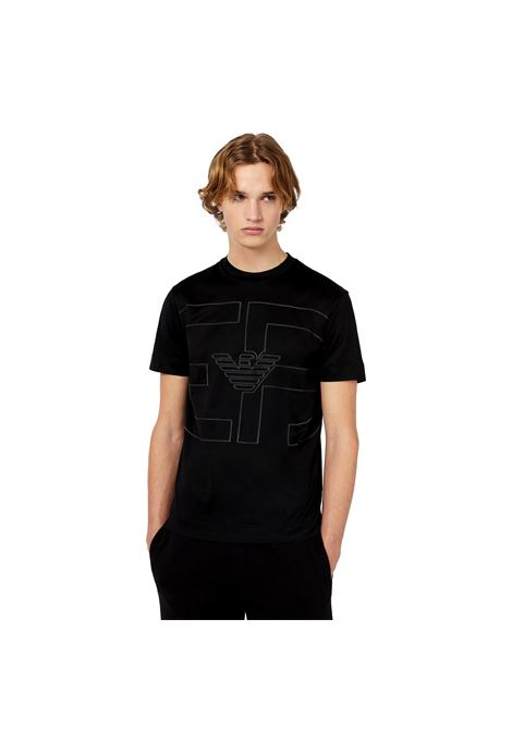 T-Shirt in jersey misto Tencel maxi logo R-EAcreate a rilievo EMPORIO ARMANI | T-shirt | 3K1TAE 1JUVZ0999